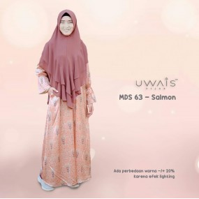 Gamis Mulan Dress by Uwais Hijab - Salmon