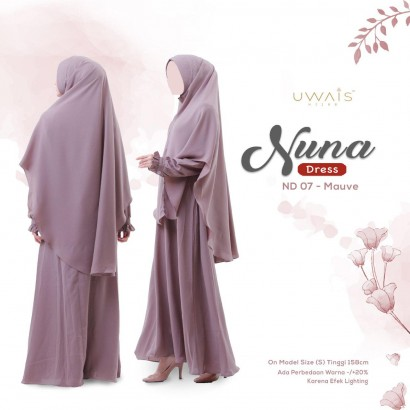 Gamis Nuna Dress by Uwais Mauve