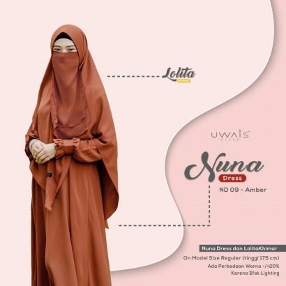 Gamis Nuna Dress by Uwais Amber