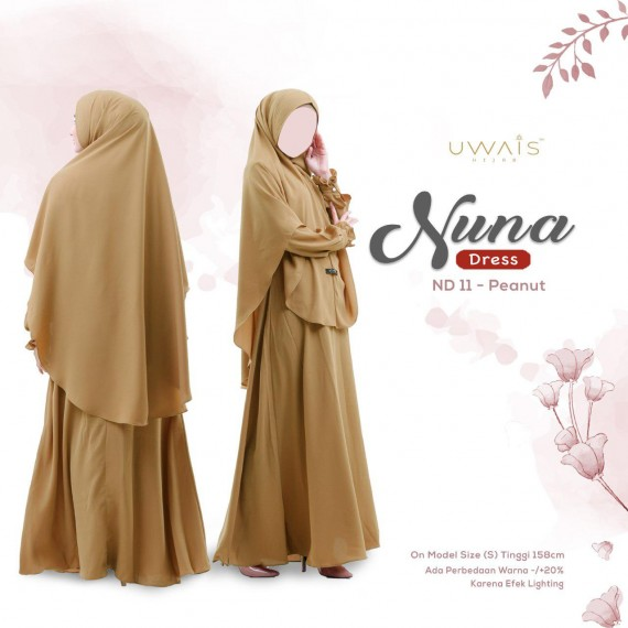 Gamis Nuna Dress by Uwais Hijab - Peanut