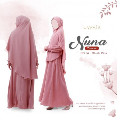Gamis Nuna Dress by Uwais Hijab - Blush Pink