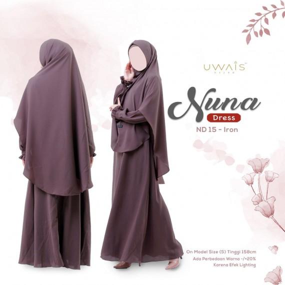 Gamis Nuna Dress by Uwais Hijab - Iron
