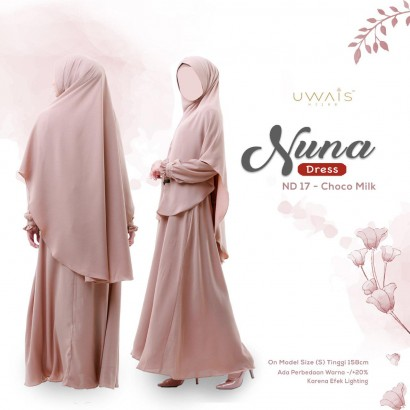 Gamis Nuna Dress by Uwais Hijab - Chocomilk