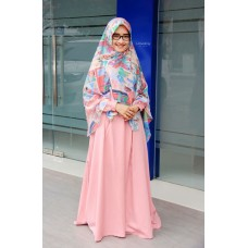 Zifa Dress ZD01 Pink Darwin by Uwais Hijab