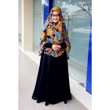 Zifa Dress ZD03 Blue Black by Uwais Hijab