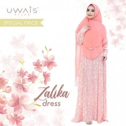 Busana muslim wanita Zalika Dress by Uwais Hijab
