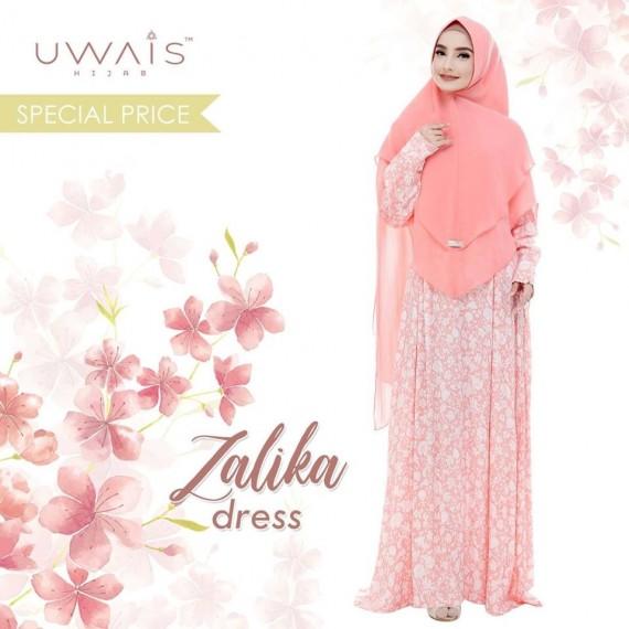 Busana muslim wanita Zalika Dress by Uwais Hijab