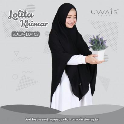 Jilbab Instan Lolita Khimar Black by Uwais Hijab