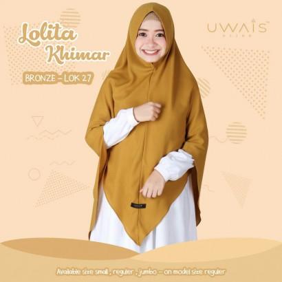 Jilbab Instan Uwais Lolita Khimar Bronze