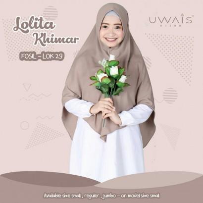 Jilbab Instan Uwais Lolita Khimar Fosil