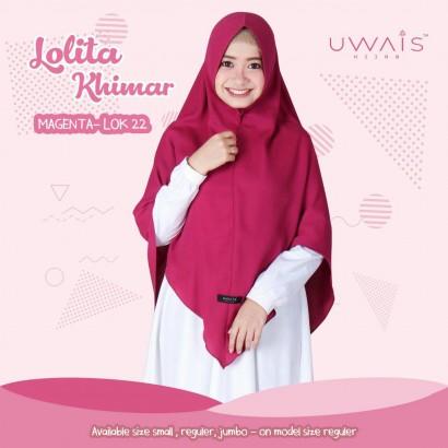 Jilbab Instan Uwais Lolita Khimar Magenta