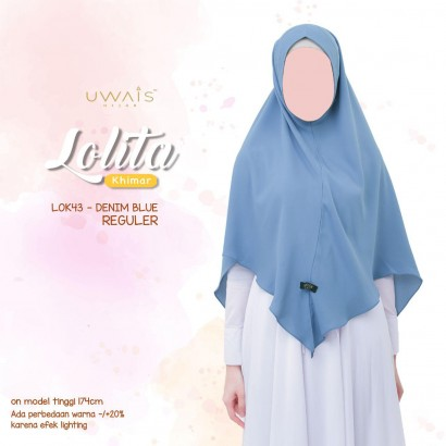Hijab Instan New Lolita Khimar by Uwais Hijab - Denim Blue