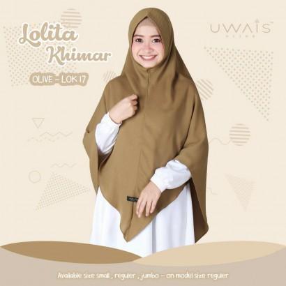 Jilbab Instan Lolita Khimar Olive by Uwais Hijab