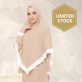 Kerudung Instan Raline Khimar by Uwais Hijab - Khaki