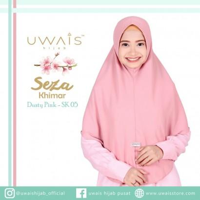 Uwais Seza Khimar Dusty Pink
