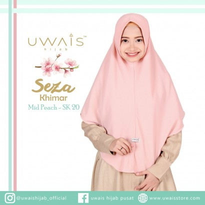 Uwais Seza Khimar Mid Peach