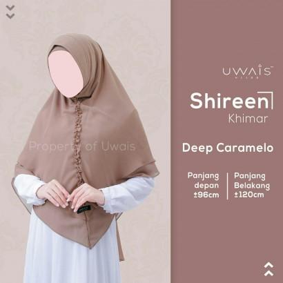 Hijab Syar'i Uwais Shireen Khimar - Caramello