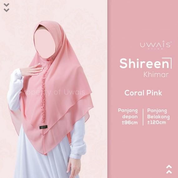 Hijab Syar'i Uwais Shireen Khimar - Coral Pink