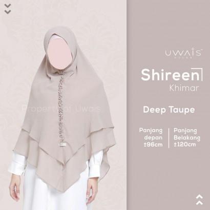 Hijab Syar'i Uwais Shireen Khimar - Deep Taupe
