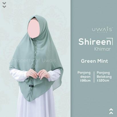 Hijab Syar'i Uwais Shireen Khimar - Green Mint