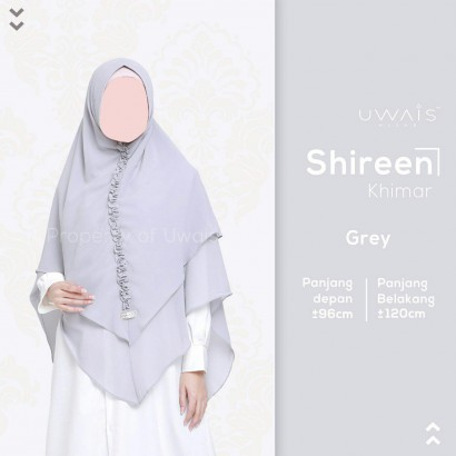 Hijab Syar'i Uwais Shireen Khimar - Grey