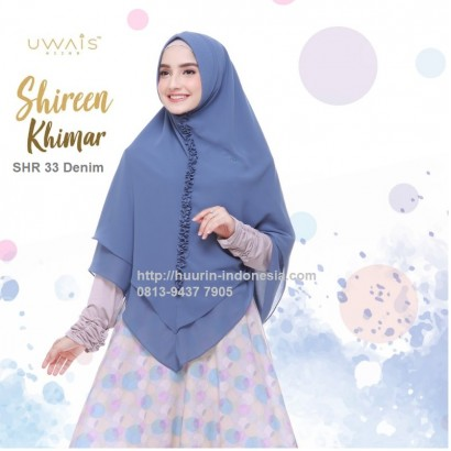 Hijab Syari Shireen Khimar by Uwais Hijab - SHR 33 Denim