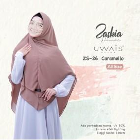 Kerudung Instan Zaskia Khimar by Uwais Hijab Caramello