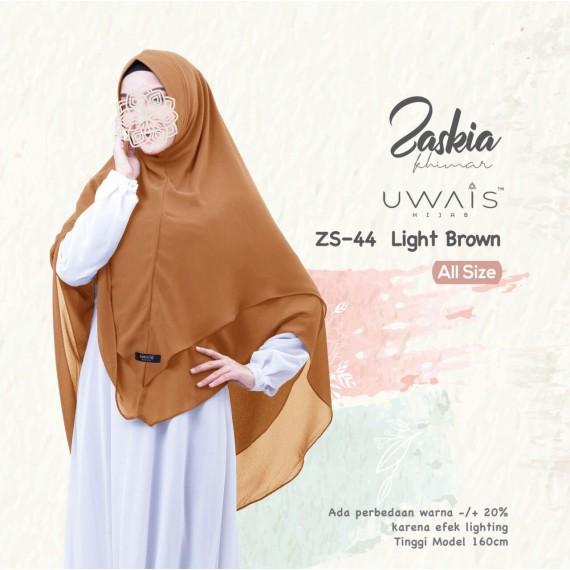 Kerudung Instan Zaskia Khimar by Uwais Hijab Light Brown
