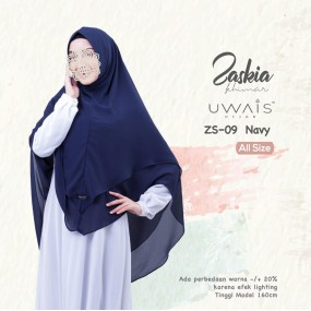 Kerudung Instan Zaskia Khimar by Uwais Hijab Navy