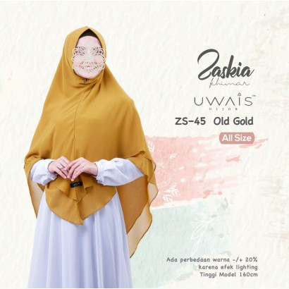 Kerudung Instan Zaskia Khimar by Uwais Hijab Old gold