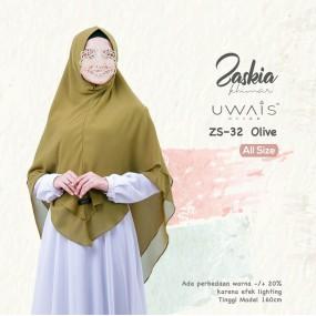 Kerudung Instan Zaskia Khimar by Uwais Hijab Olive