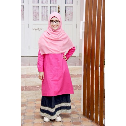 Tunik Uwais Yemima Hot Pink