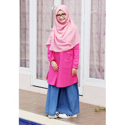 Tunik Uwais Shafea Hot Pink