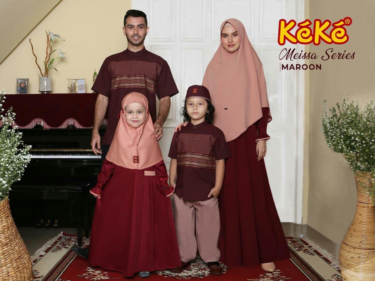 Sarimbit Terbaru Lebaran 2021 Keke Azkasyah Nibras Uwais Hijab Ethica